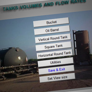 Tank Volumes Flow Rates Calculator 32 Bit